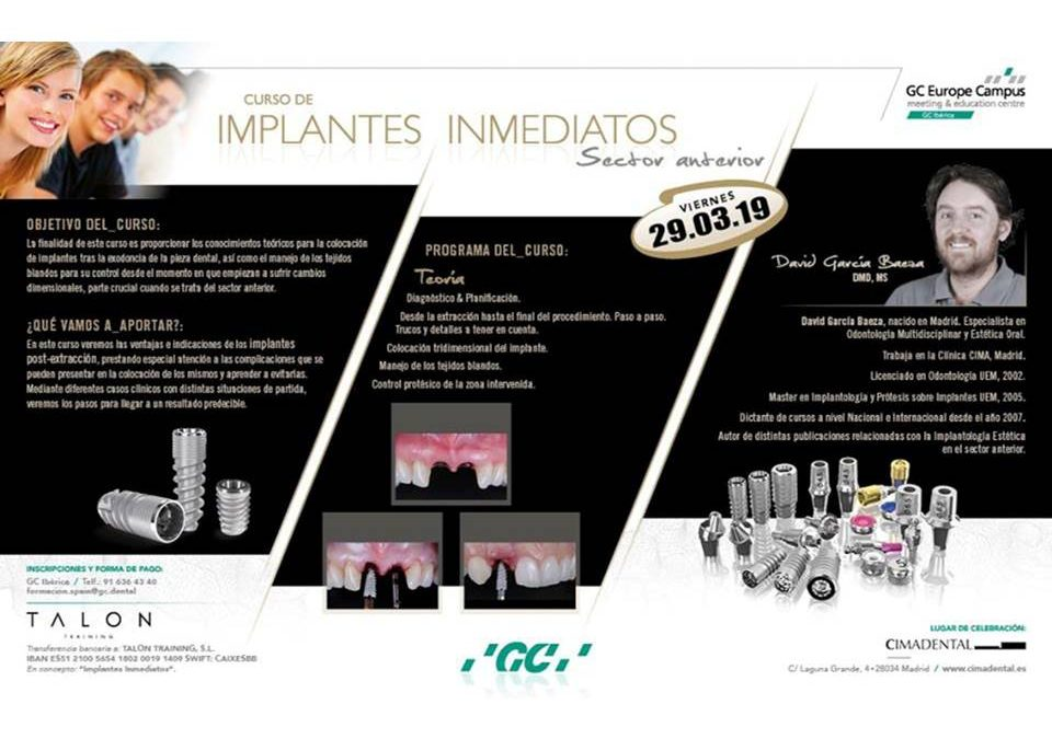 Implantes Inmediatos (Sector Anterior)